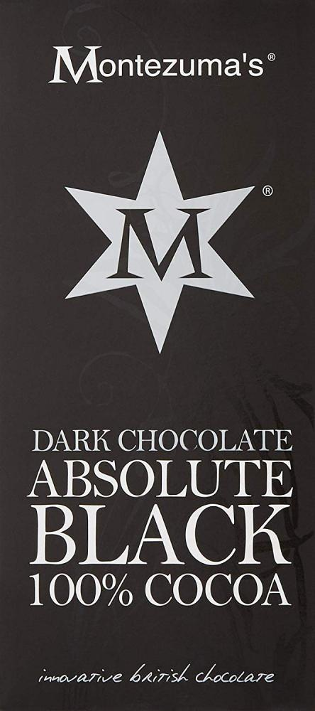 Montezumas Dark Chocolate Absolute Black 100 Cocoa 100 g