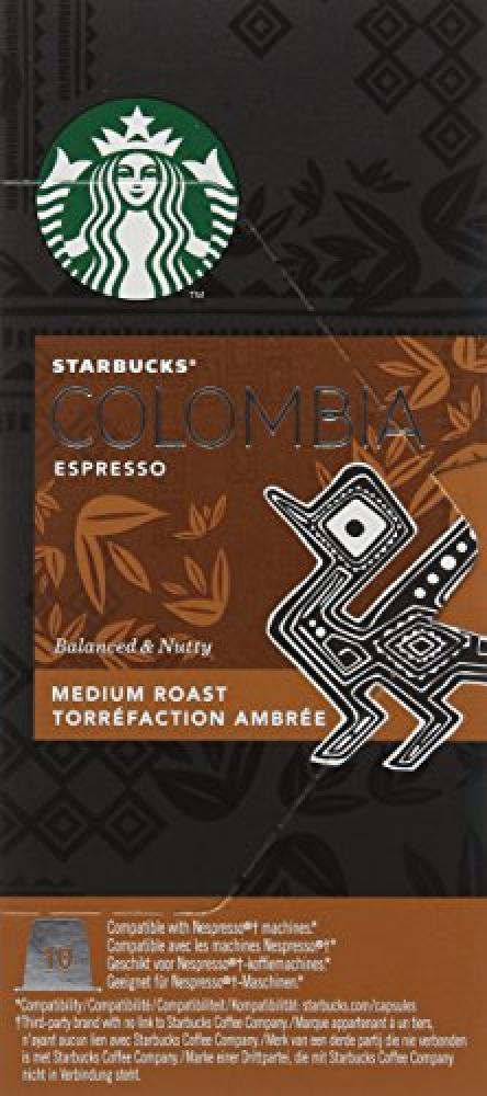 Starbucks Compatible Espresso Colombia Capsules 10 pack