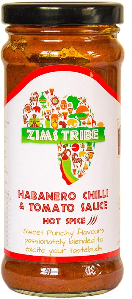 Zims Tribe Tribe Habanero Hot Chilli and Tomato Sauce 240g