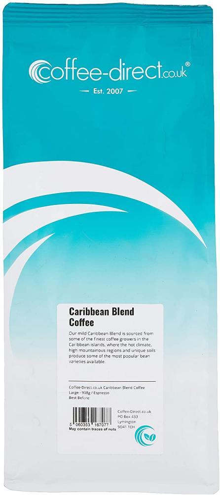 Coffee Direct Caribbean Blend Coffee Espresso Grind 908 g