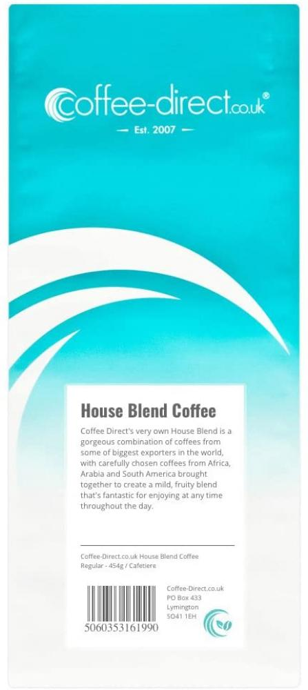 Coffee Direct Cafetiere Grind House Blend Coffee 454g