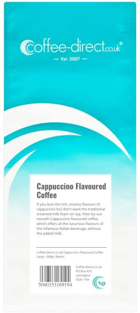 Coffee Direct Cappuccino Flavoured Coffee Beans 908g