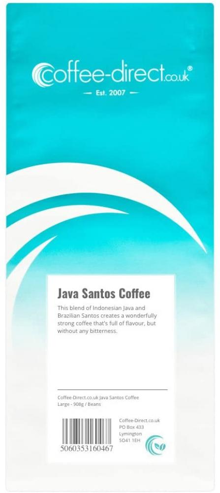 Coffee Direct Java Santos Coffee Beans 908 g