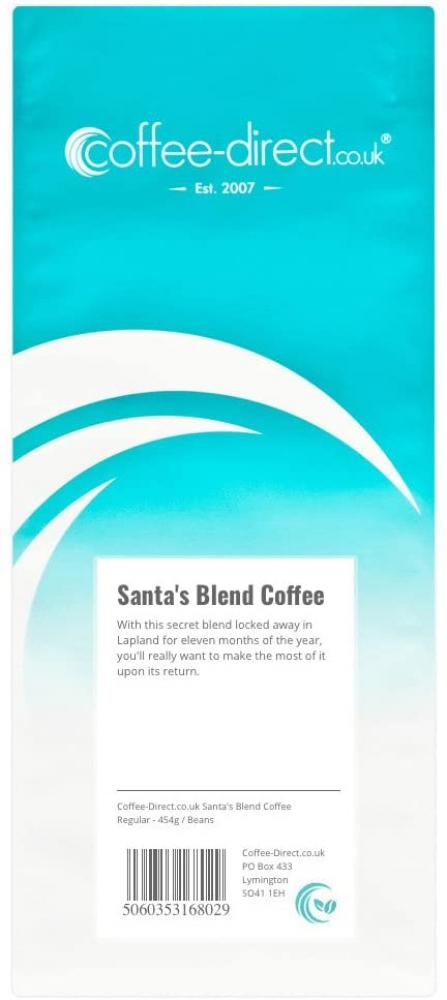 Coffee Direct Santas Blend Coffee Beans 454g