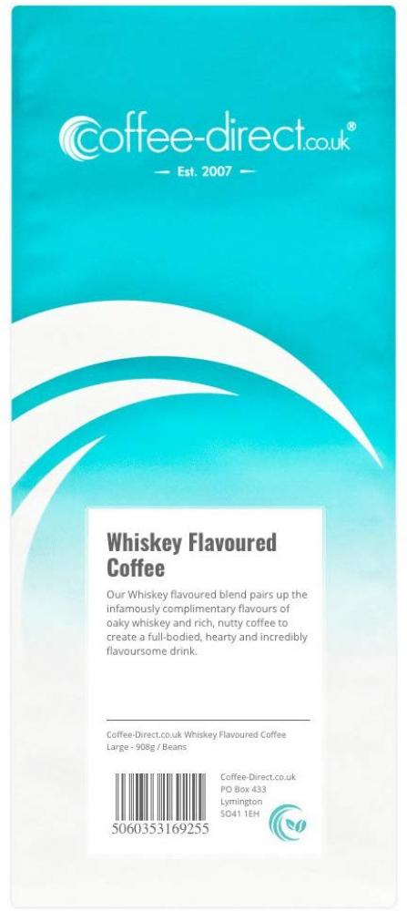 Coffee Direct Whiskey Flavoured Coffee Beans 908 g