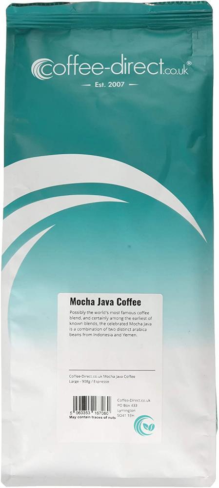 Coffee Direct Mocha Java Coffee Espresso Grind 908 g