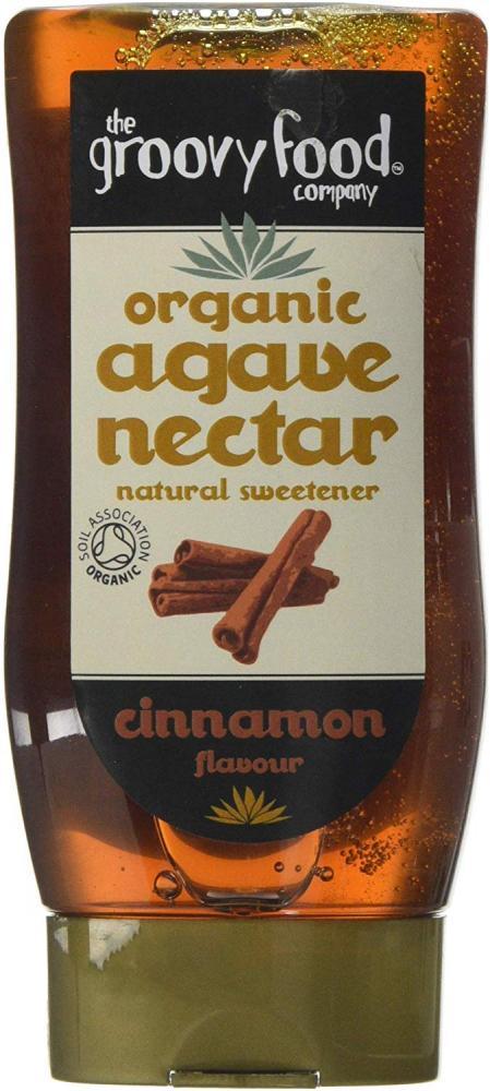 The Groovy Food Company Organic Agave Nectar Cinnamon Flavour 250ml