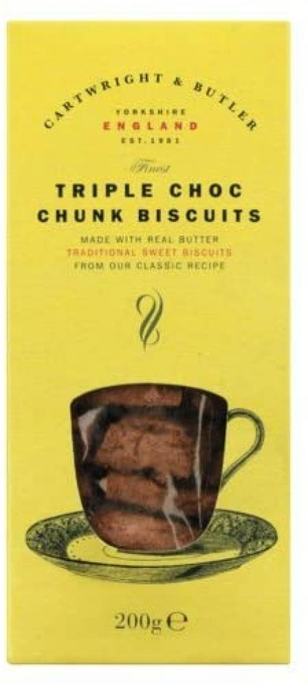 Cartwright and Butler Triple Choc Chunk Biscuits 200 g