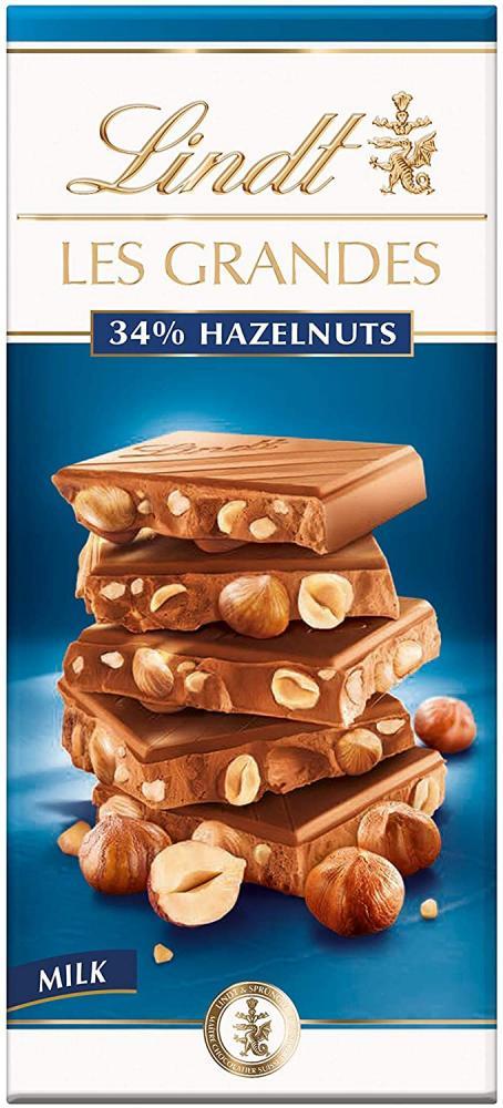 Lindt Les Grandes Milk Chocolate Hazelnut Bar 150 g
