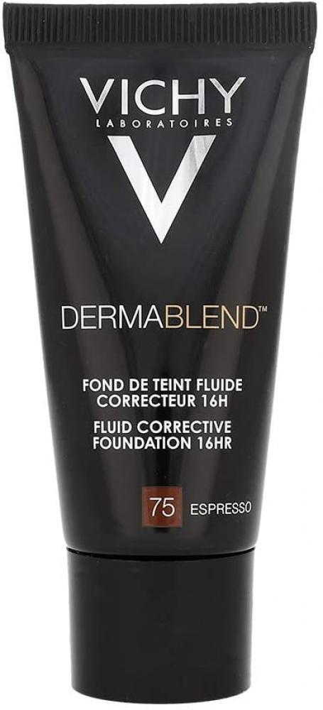 Vichy Laboratoires Dermablend Fluid Corrective Foundation 16HR 75 Espresso 30ml