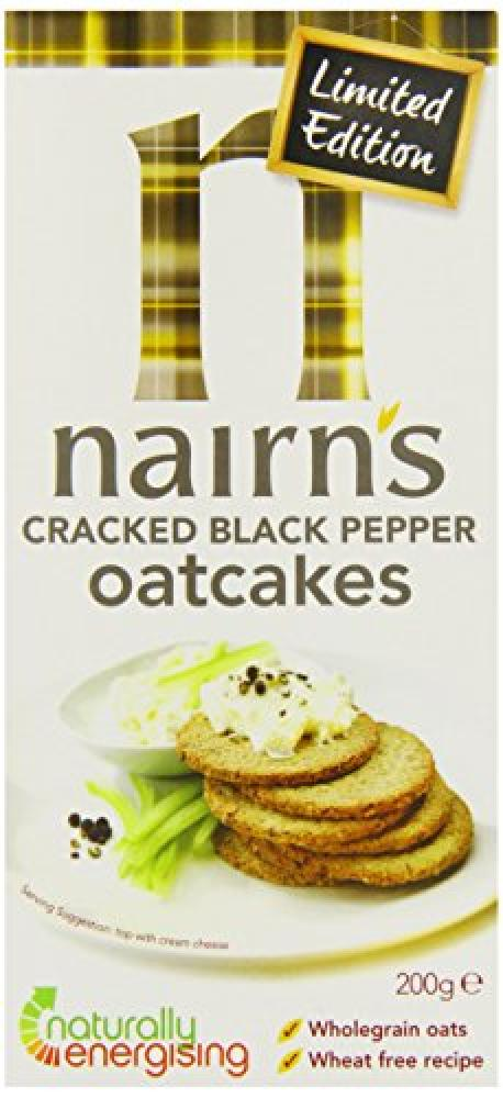 Nairns Cracked Black Pepper Oatcakes Limited Edition 200 g