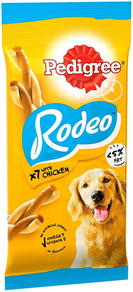 Pedigree Rodeo Dog Treats with Chicken 123 g
