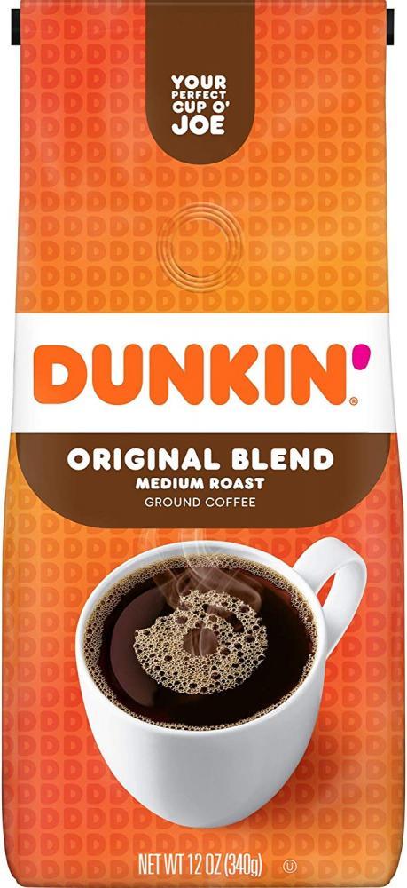 Dunkin Donuts Original Blend Medium Roast Ground Coffee 340g