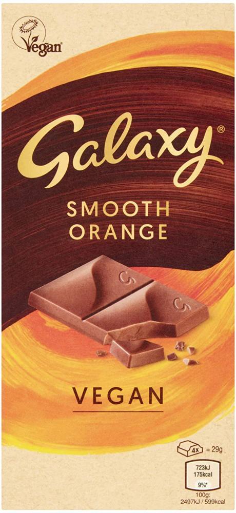 Galaxy Vegan Chocolate Smooth Orange 100g