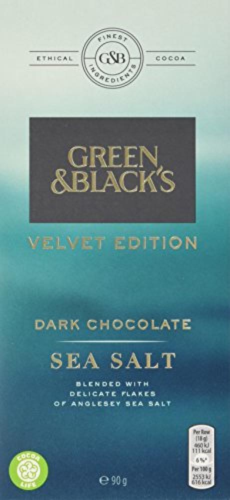 Green and Blacks Velvet Edition Dark Chocolate Sea Salt 90g
