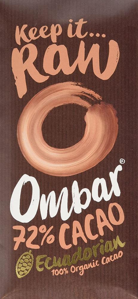 Ombar Organic Dark 72 Percent Raw Cacao Bar 70 g