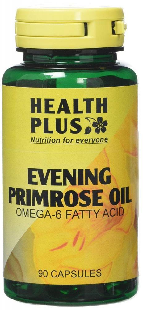 Health Plus Evening Primrose Oil 500mg Omega-6 Supplement 90