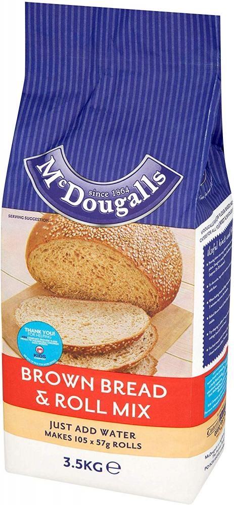 Mcdougalls Brown Bread and Roll Mix 3.5kg