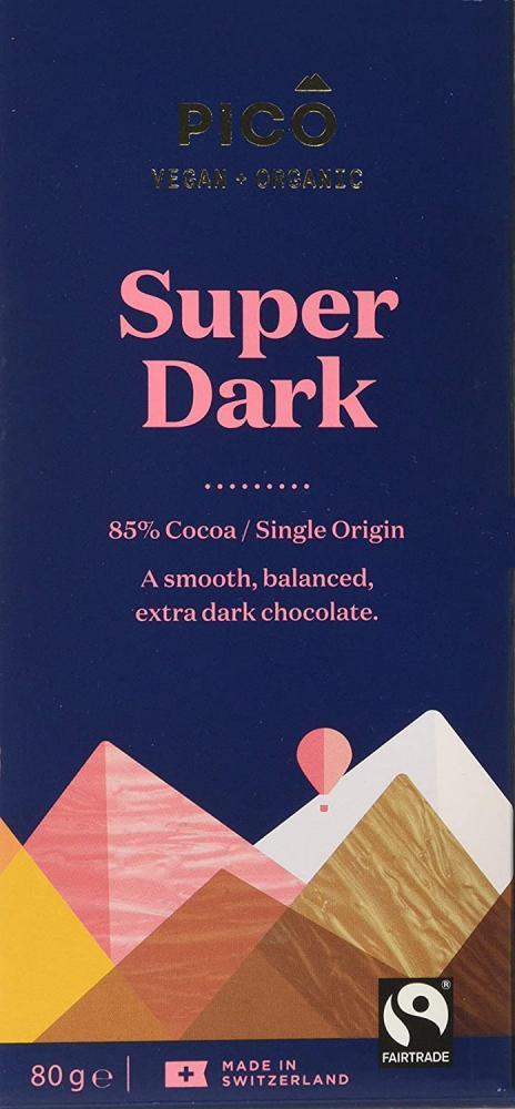Pico Super Dark Organic Vegan Chocolate 80 g