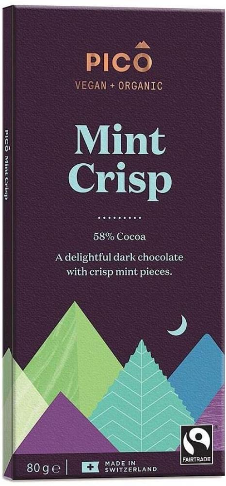 Pico Organic Mint Crisp Chocolate Bar 80 g