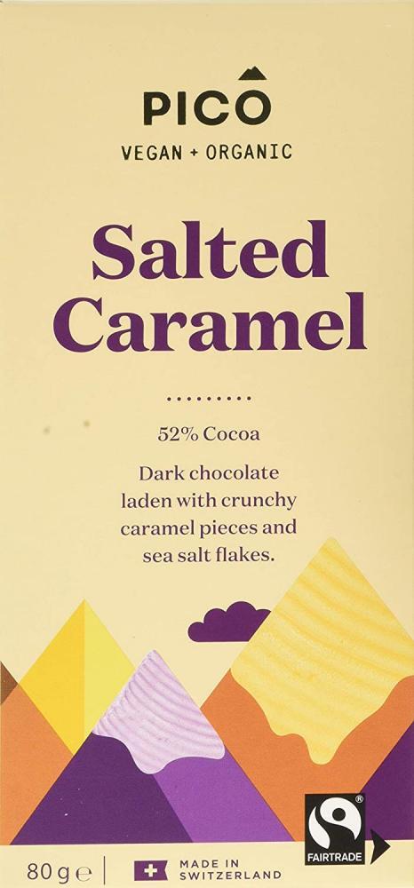 Pico Salted Caramel Organic Vegan Chocolate 80 g