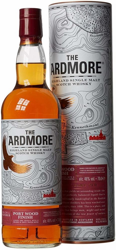 The Ardmore 12 Year Old Port Wood Finish Single Malt Scotch Whisky 70cl