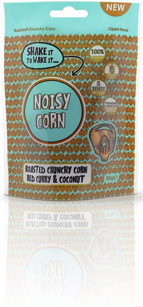 Noisy Snacks Corn Red Curry and Coconut Extra Bold Flavour 45g