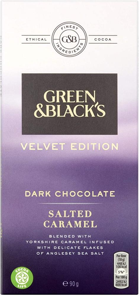 Green and Blacks Salted Caramel Dark Chocolate Bar 90g