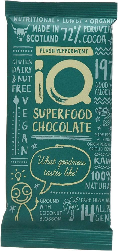 IQ Chocolate Organic Plush Peppermint 35g