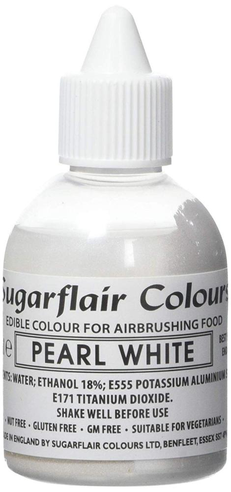 Sugarflair Colours Pearl White Edible Colour for Airbrushing Food 60ml