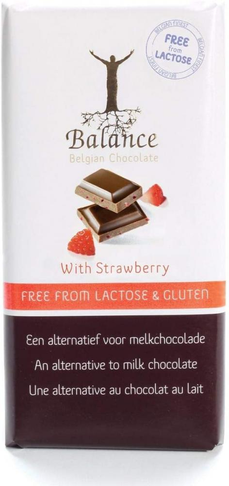 Balance Lactose and Gluten Free Cocoa Rice with Strawberries Bar 85g