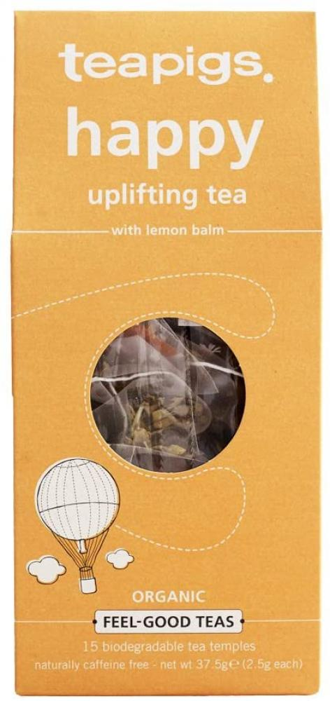 Teapigs Happy Herbal Tea Made with Whole Leaves 15 Tea Bags