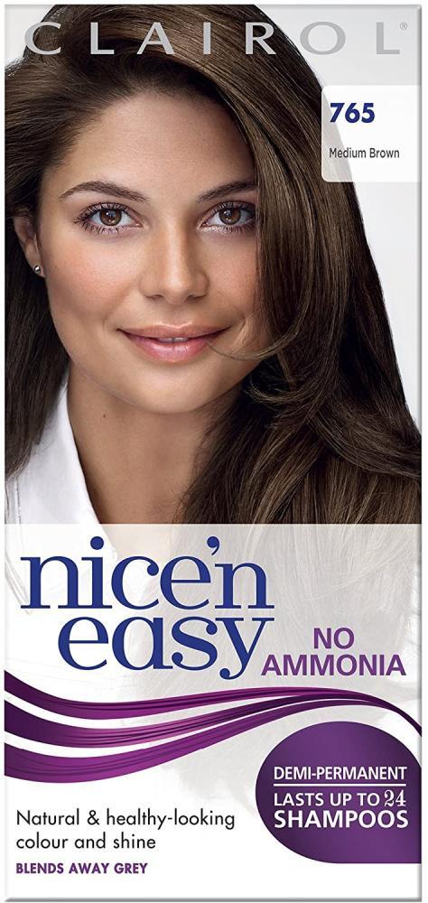Clairol Nicen Easy Semi-Permanent Hair Dye No Ammonia 765 Medium Brown