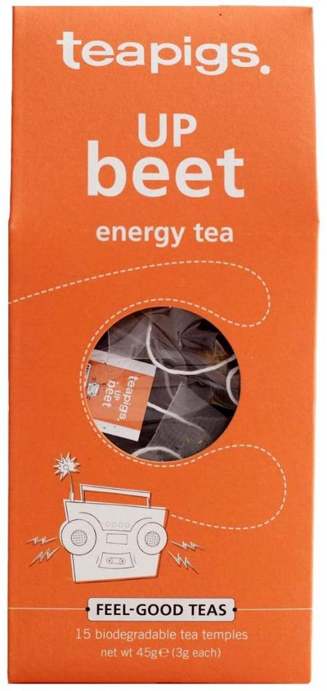 Tea Pigs Up Beet Herbal Tea Made with Whole Leaves Pack of 15