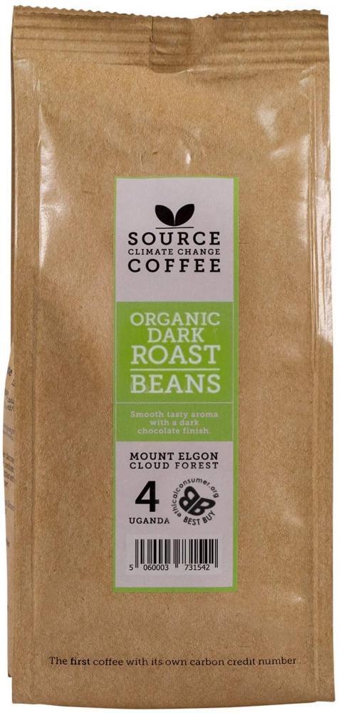 Source Climate Change Coffee Award Winning Organic Dark Roast Uganda Single Origin Whole Coffee Beans Bag 227 g