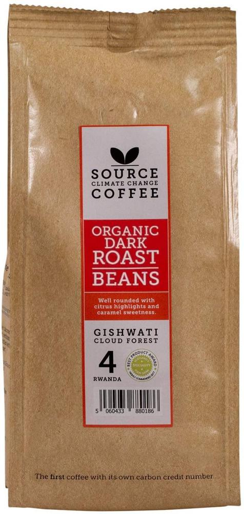 Source Climate Change Coffee Organic Dark Roast Rwanda Single Origin Whole Coffee Beans Bag 227g