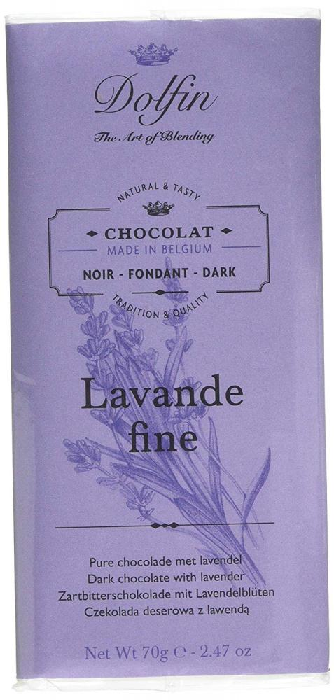 Dolfin Lavender Dark Chocolate Bar 70 g