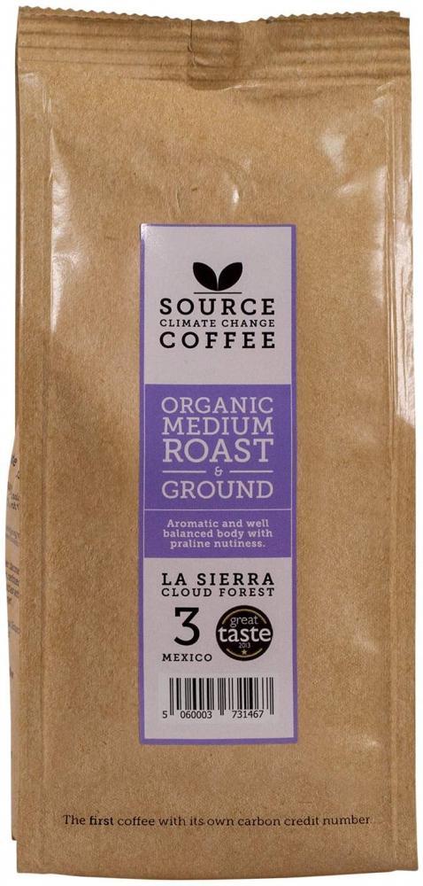 Source Climate Change Coffee Organic Medium Roast Mexico Single Origin Roast and Ground Coffee Bag 227 g