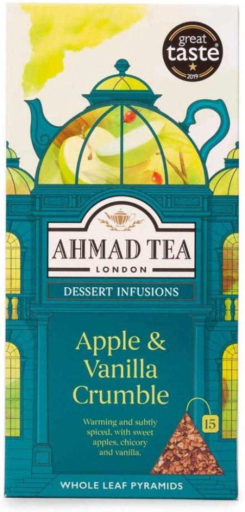 Ahmad Tea Apple and Vanilla Crumble Dessert Fruit and Herbal Infusion 15 Teabags
