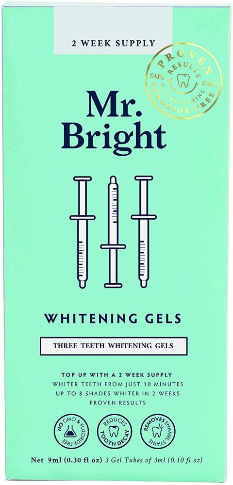 Bean Body Care Ltd Mr Bright Teeth Whitening Refills 3 Gel Tubes of 3 ml