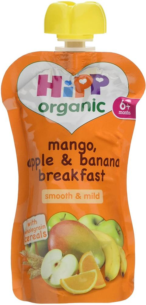 HiPP Organic Mango and Apple and Banana Breakfast 100g