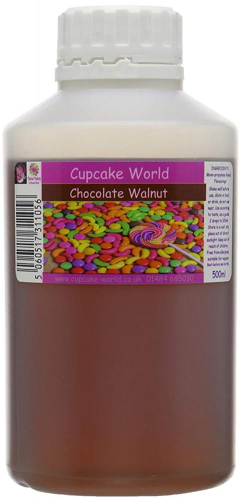 Cupcake World Intense Food Flavouring Chocolate Walnut 500ml