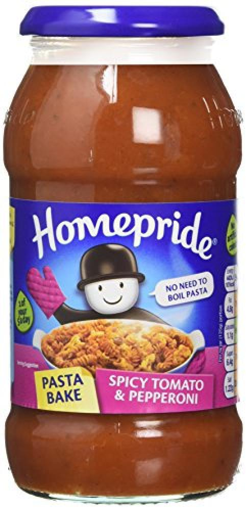 Homepride Spicy Tomato and Pepperoni Pasta Bake Sauce 500g