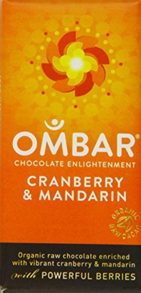 Ombar Cranberry and Mandarin Bar 35 g