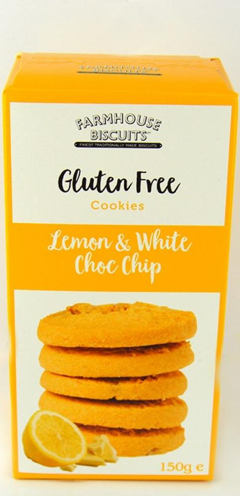 Farmhouse Biscuits Gluten Free Lemon and White Choc Chip Cookies 150g