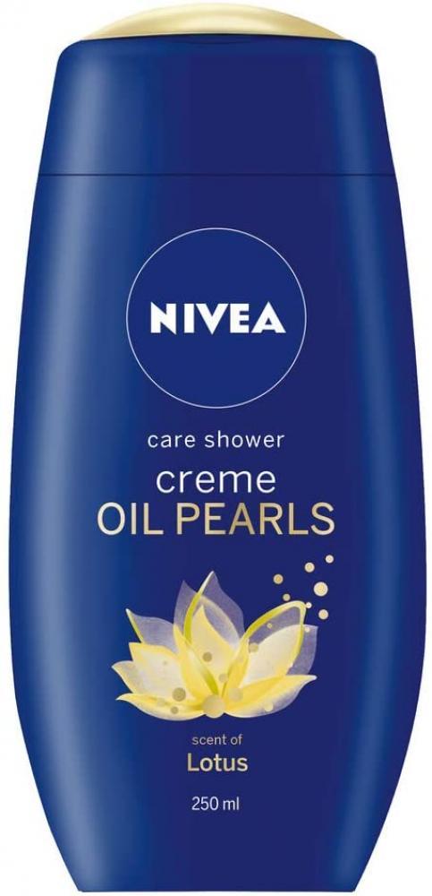 Nivea Shower Cream Gel Creme and Oil Pearls Lotus 250 ml