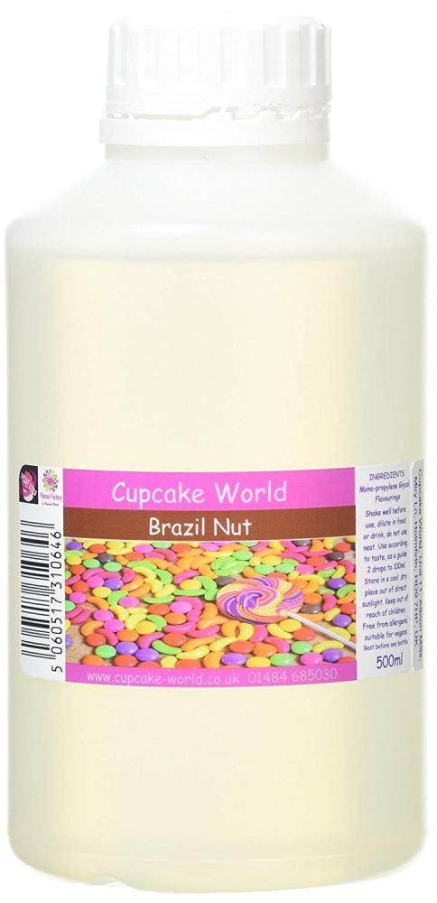 Cupcake World Intense Food Flavouring Brazil Nut 500ml