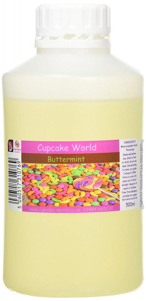 Cupcake World Intense Food Flavouring Buttermint 500ml