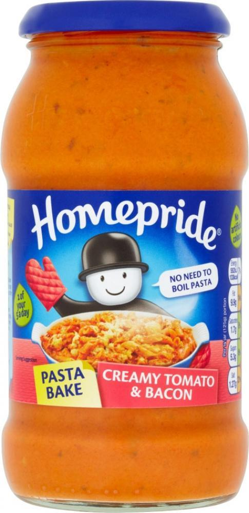 Homepride Creamy Tomato And Bacon 450g