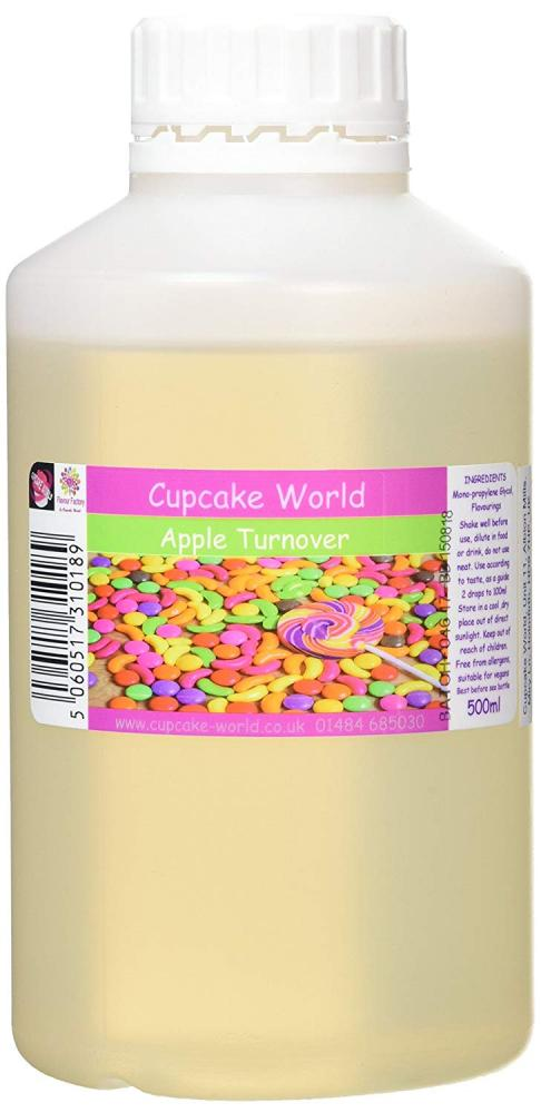 SUMMER SALE  Cupcake World Intense Food Flavouring Apple Turnover 500ml
